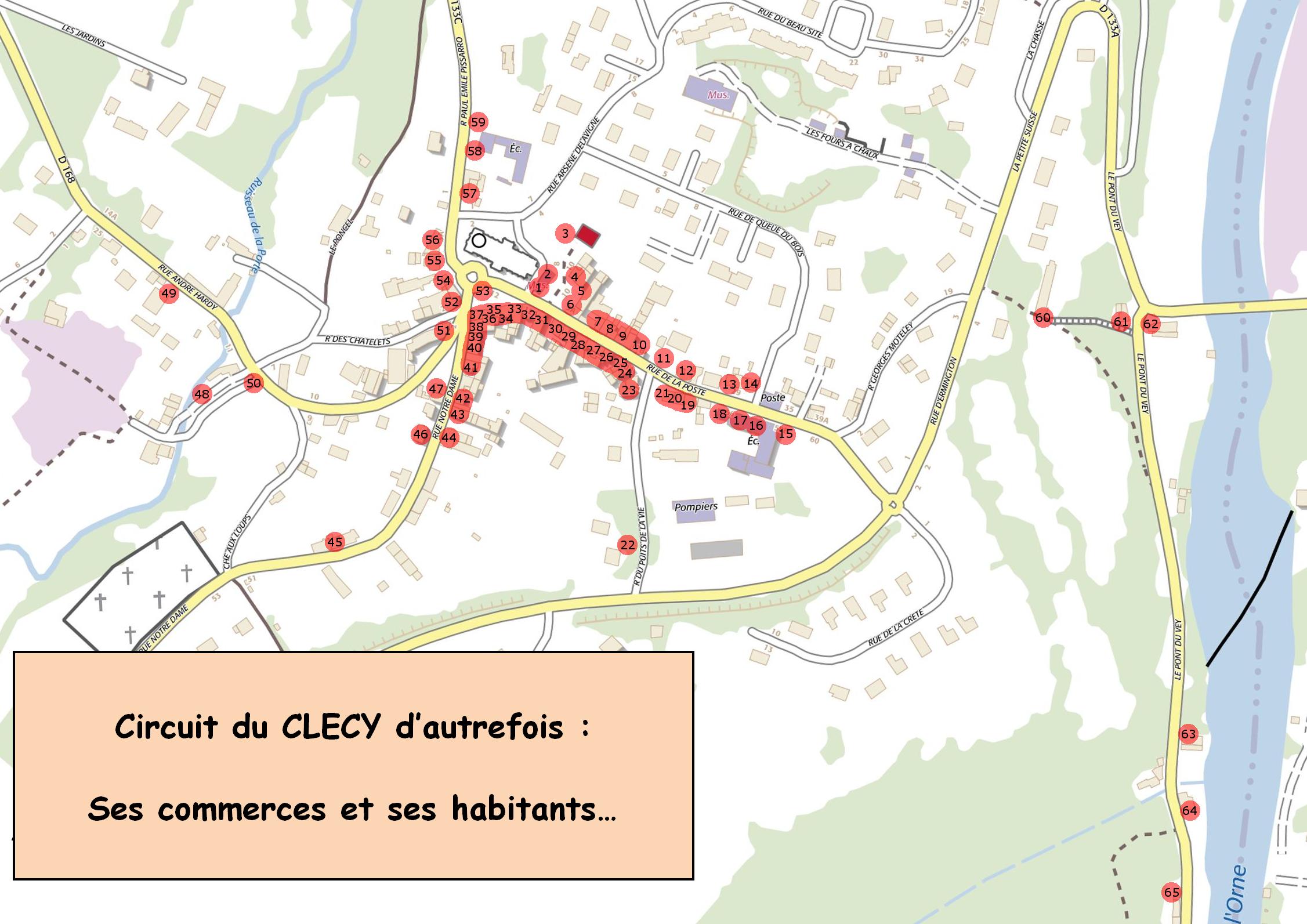 Circuit du Clécy d'autrefois